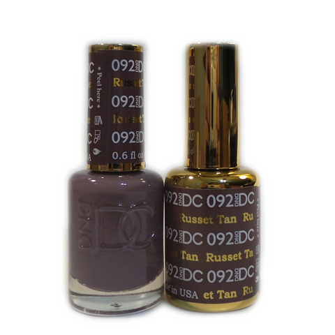 DC Nail Lacquer And Gel Polish (New DND), DC092, Russet Tan, 0.6oz