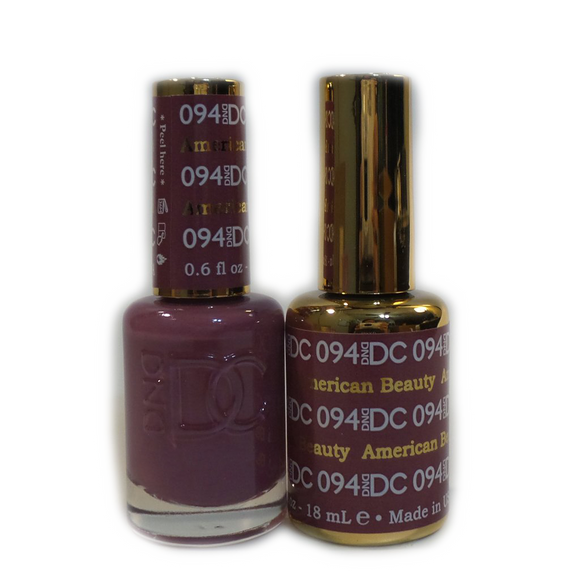 DC Nail Lacquer And Gel Polish (New DND), DC094, American Beauty, 0.6oz
