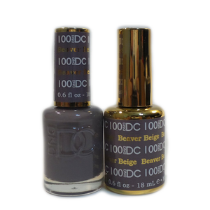 DC Nail Lacquer And Gel Polish (New DND), DC100, Beaver Beige, 0.6oz