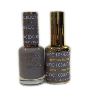 DC Nail Lacquer And Gel Polish (New DND), DC103, Bamboo Brown, 0.6oz