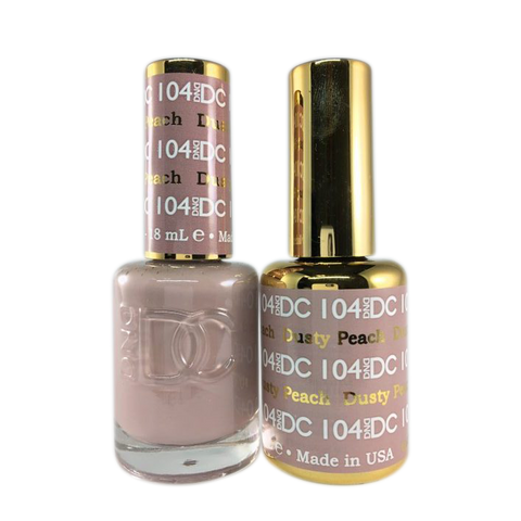 DC Nail Lacquer And Gel Polish (New DND), DC104, Dusty Peach, 0.6oz