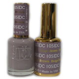 DC Nail Lacquer And Gel Polish (New DND), DC105, Beige Brown, 0.6oz
