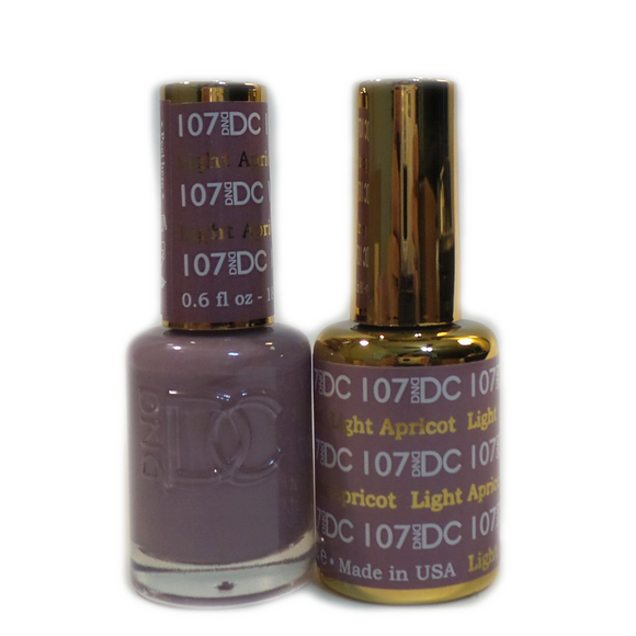 DC Nail Lacquer And Gel Polish (New DND), DC107, Light Apricot, 0.6oz