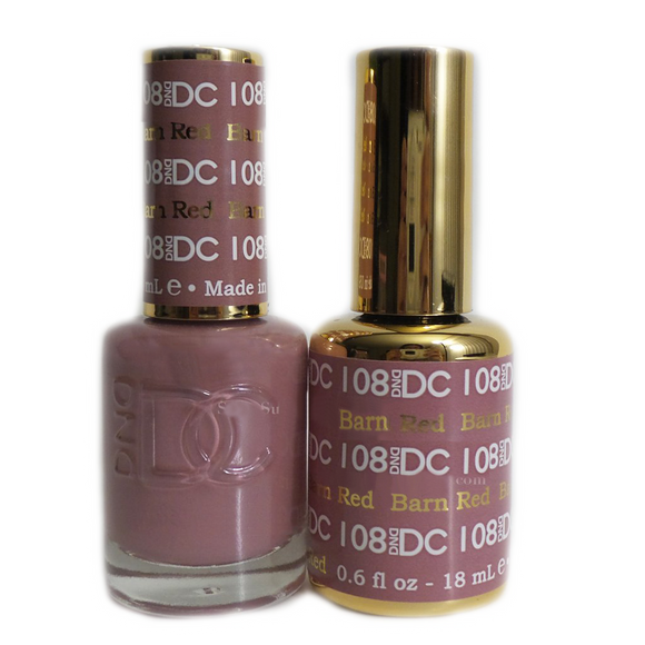 DC Nail Lacquer And Gel Polish (New DND), DC108, Barn Red, 0.6oz