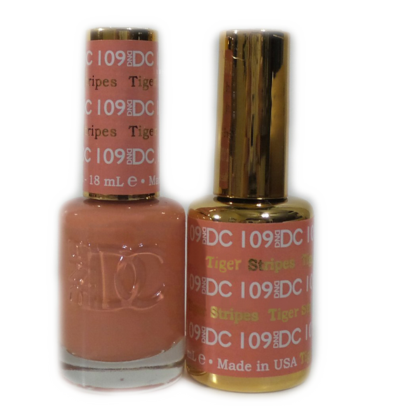 DC Nail Lacquer And Gel Polish (New DND), DC109, Tiger Stripes, 0.6oz