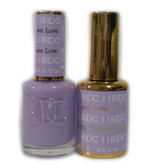 DC Nail Lacquer And Gel Polish (New DND), DC118, Unicorn Lovely, 0.6oz