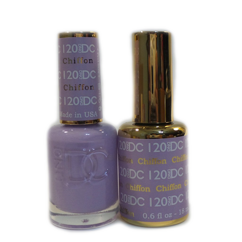 DC Nail Lacquer And Gel Polish (New DND), DC120, Chiffon, 0.6oz