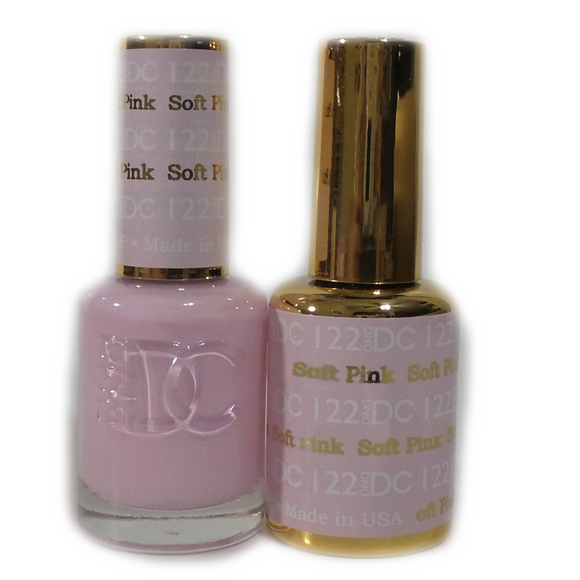 DC Nail Lacquer And Gel Polish (New DND), DC122, Soft Pink, 0.6oz