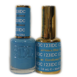 DC Nail Lacquer And Gel Polish (New DND), DC123, Cornflower Blue, 0.6oz