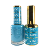 DC Nail Lacquer And Gel Polish (New DND), DC124, Columbian Blue, 0.6oz
