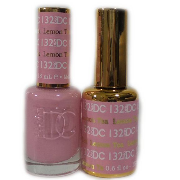 DC Nail Lacquer And Gel Polish (New DND), DC132, Lemon Tea, 0.6oz