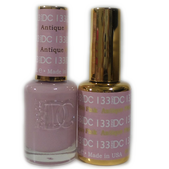 DC Nail Lacquer And Gel Polish (New DND), DC133, Antique Pink, 0.6oz