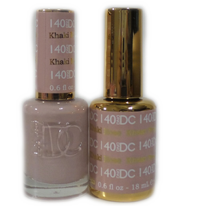 DC Nail Lacquer And Gel Polish (New DND), DC140, Khaki Rose, 0.6oz