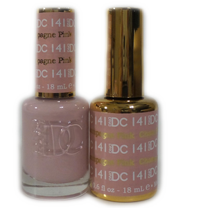 DC Nail Lacquer And Gel Polish (New DND), DC141, Pink Champagne, 0.6oz