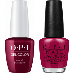 OPI GelColor And Nail Lacquer, F52, Bogota Blackberry, 0.5oz