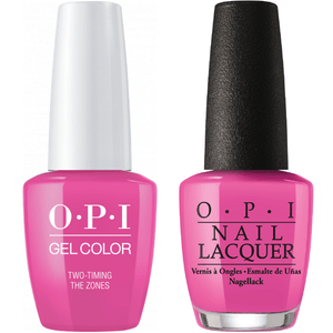 OPI GelColor And Nail Lacquer, F80, Two-timing the Zones, 0.5oz