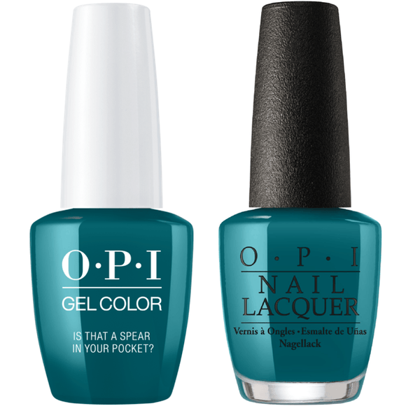 OPI GelColor And Nail Lacquer, F85, Is That A Spear In Your Pocket?, 0.5oz