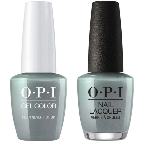 OPI GelColor And Nail Lacquer, F86, I Can Never Hut Up, 0.5oz