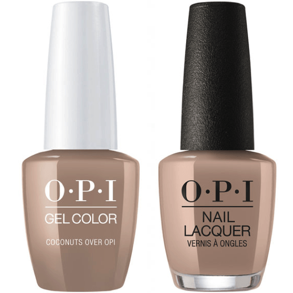 OPI GelColor And Nail Lacquer, F89, Coconuts Over OPI, 0.5oz