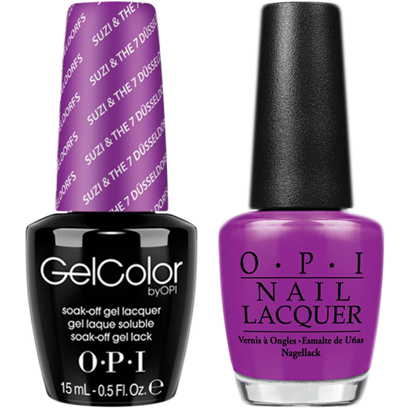 OPI GelColor And Nail Lacquer, G23, Suzi & The 7 Dusseldorfs, 0.5oz