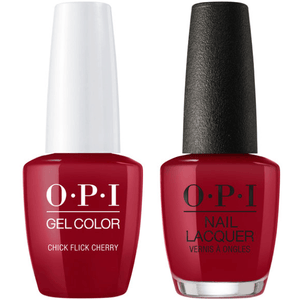 OPI GelColor And Nail Lacquer, H02, Chick Flick Cherry, 0.5oz