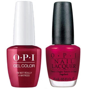 OPI GelColor And Nail Lacquer, H08, I'm Not Rlly Waitrs, 0.5oz