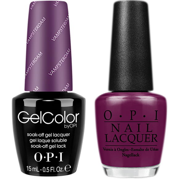 OPI GelColor And Nail Lacquer, H63, Vamsterdam, 0.5oz