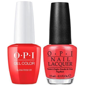 OPI GelColor And Nail Lacquer, H70, Aloha From OPI, 0.5oz