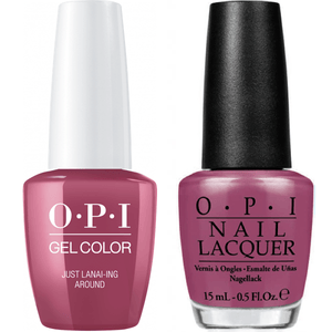 OPI GelColor And Nail Lacquer, H72, Just Lanai-ing Around, 0.5oz