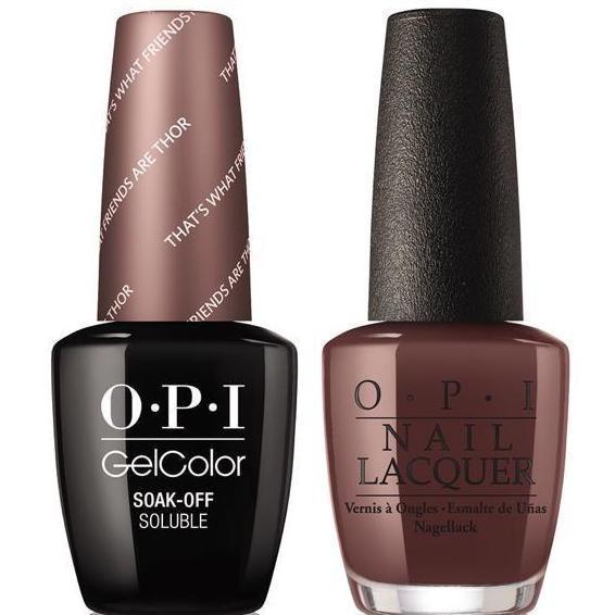 OPI GelColor And Nail Lacquer, I54, That's What Friends Are Thor, 0.5oz