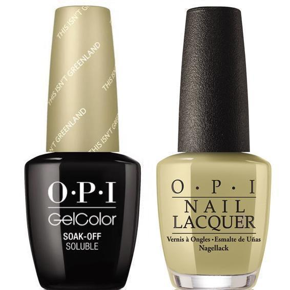 OPI GelColor And Nail Lacquer, I58, This Isn't Greenland, 0.5oz