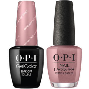 OPI GelColor And Nail Lacquer, I63, Reyklavik Has All The Hot Spots, 0.5oz