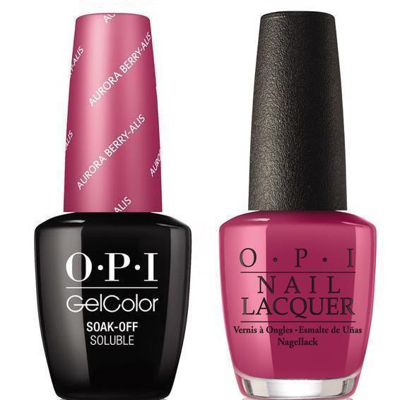 OPI GelColor And Nail Lacquer, I64, Aurora Berry-Alis, 0.5oz