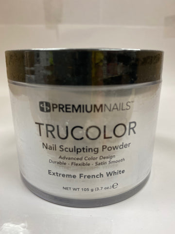 PremiumNails TRUCOLOR Nail Sculpting Powder | Extreme French White 3.7oz.