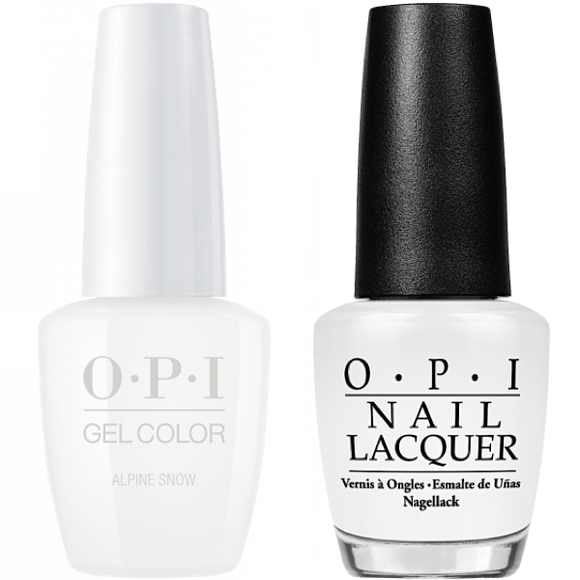 OPI GelColor And Nail Lacquer, L00, Alpine Snow, 0.5oz