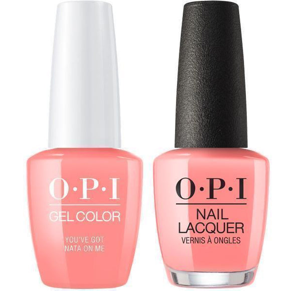 OPI GelColor And Nail Lacquer, Lisbon Collection, L17, You've Got Nata On Me, 0.5oz