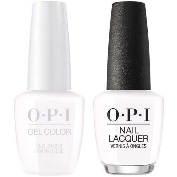 OPI GelColor And Nail Lacquer, Lisbon Collection, L26, Suzi Chases Portu-geese, 0.5oz