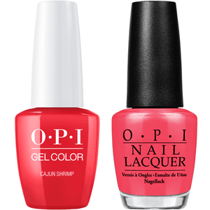 OPI GelColor And Nail Lacquer, L64, Cajun Shrimp, 0.5oz