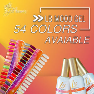IGel LB Mood Gel Polish 0.6oz, Full line of 54 colors
