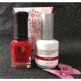 LeChat Perfect Match Nail Lacquer And Gel Polish, PMS189, Red Haute, 0.5oz
