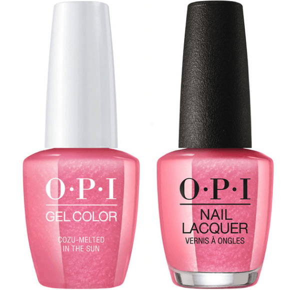 OPI GelColor And Nail Lacquer, M27, Cozu-Melted in Sun, 0.5oz