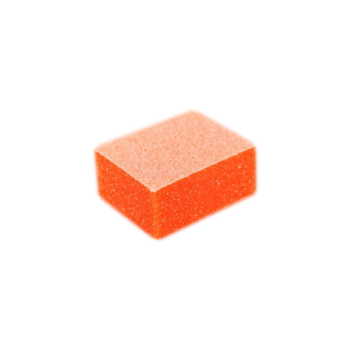 MINI 2-Way Buffer, ORANGE Foam, WHITE Grit 80/100