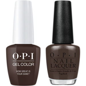 OPI GelColor And Nail Lacquer, N44, How Great is Your Dane?, 0.5oz