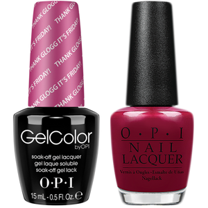 OPI GelColor And Nail Lacquer, N48, Thank Glogg It's Friday, 0.5oz