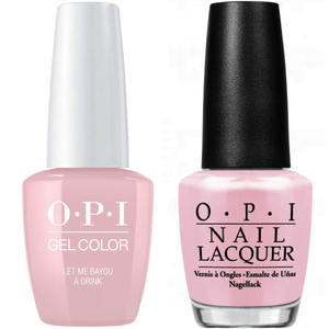 OPI GelColor And Nail Lacquer, N51, Let Me Bayou a Drink, 0.5oz
