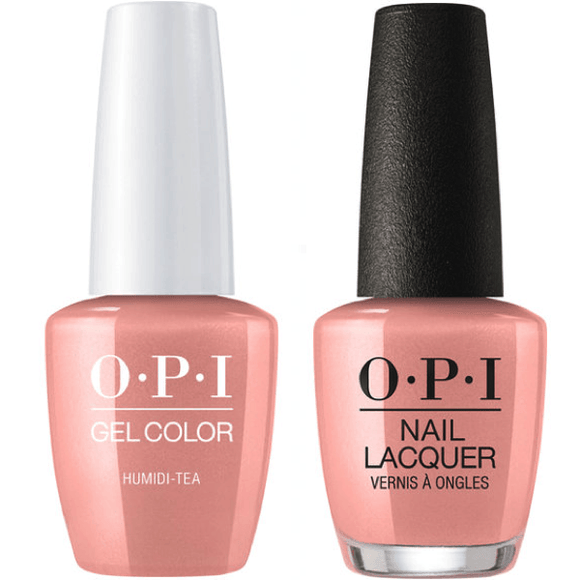 OPI GelColor And Nail Lacquer, N52, Humidi-Tea, 0.5oz