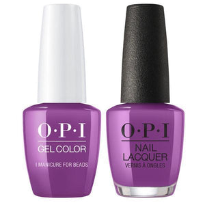 OPI GelColor And Nail Lacquer, N54, I Manicure for Beads, 0.5oz