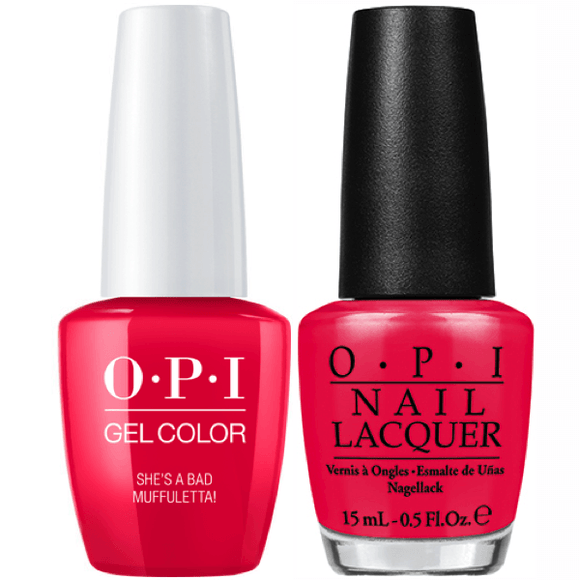 OPI GelColor And Nail Lacquer, N56, She's a Bad Muffuletta!, 0.5oz