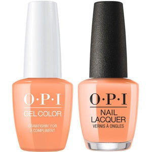 OPI GelColor And Nail Lacquer, N58, Crawfishin' for a Compliment, 0.5oz