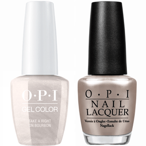 OPI GelColor And Nail Lacquer, N59, Take a Right on bourbon, 0.5oz